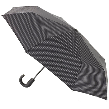 Fulton Chelsea Automatic Folding Umbrella - City Stripe Black/Steel
