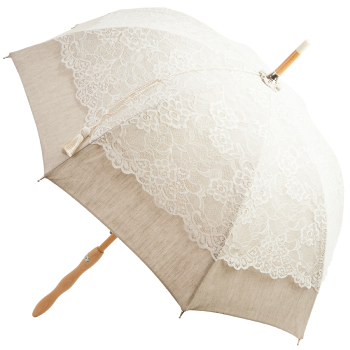 Chloe - UVP Ivory French Embroidered Lace Parasol by Pierre Vaux