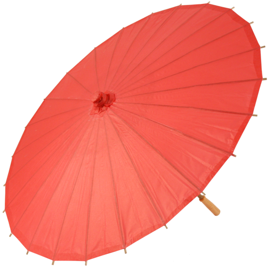 Chinese Paper and Bamboo Parasol - Red