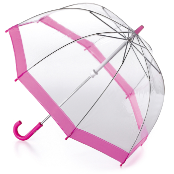 Fulton Funbrella Birdcage - Pink - Clear Umbrella for Children
