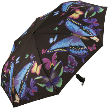 Galleria Art Print Auto Open & Close Folding Umbrella - Moonlight Butterfly