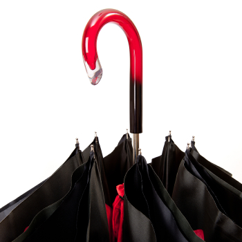 Lotus Red Double Canopy Umbrella by Pasotti