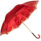 Dahlia Red Double Canopy - Luxury Ladies Umbrella by Pasotti